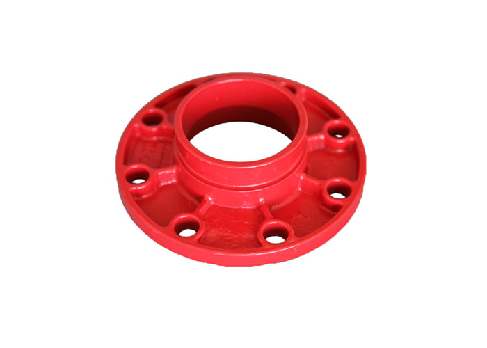 Customized Sized Ductile Iron Pipe Fittings , Ductile Iron Flange Eco Friendly