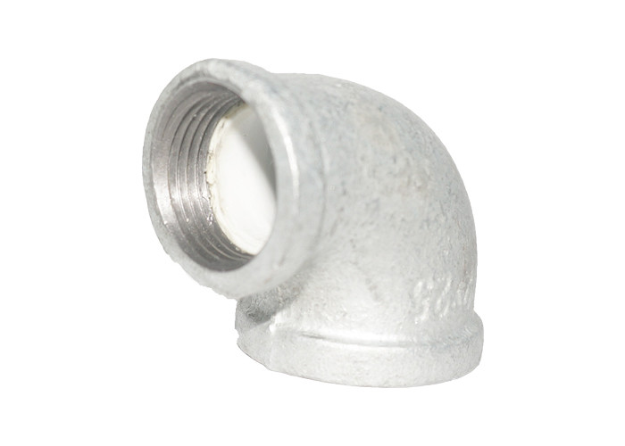 Malleable Iron PO Lined Pipe Fittings 90R Reducing Elbow For Gas Oil Distribution